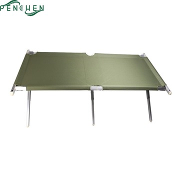 Aluminum Portable Folding Military Army Field Bed For Camping