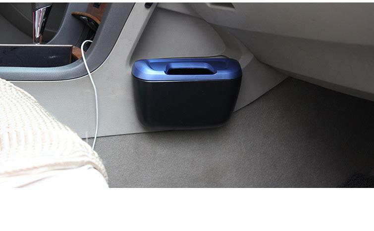 Plastic Door Side Seat Back Mini Car Garbage Trash Bin Trash Can For
