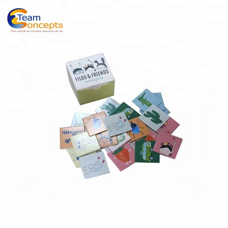 kids educational Paper game and memory cards