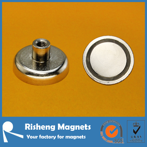 Pot magnet with threaded hole neodymium magnet pot