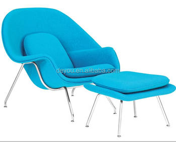 Replica Fabric Womb Chair And Ottoman, Womb Lounge Chair, Fancy Living Room  Chairs