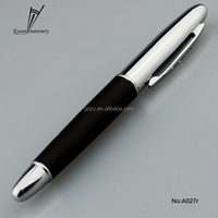 Promotional Aluminum Leather Business & Christmas Gift Ballpiont & Roller Pen