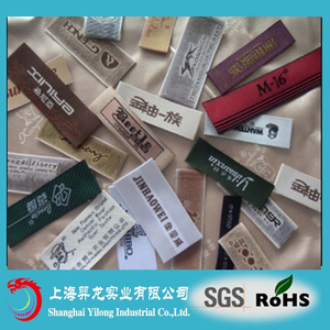 custom t shirt labels and tags cheap garment accessory woven label Factory Woven Labels WL37