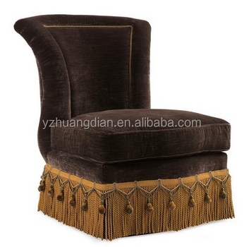 Yg172 Carved Wood Tall Back Sofa Chair