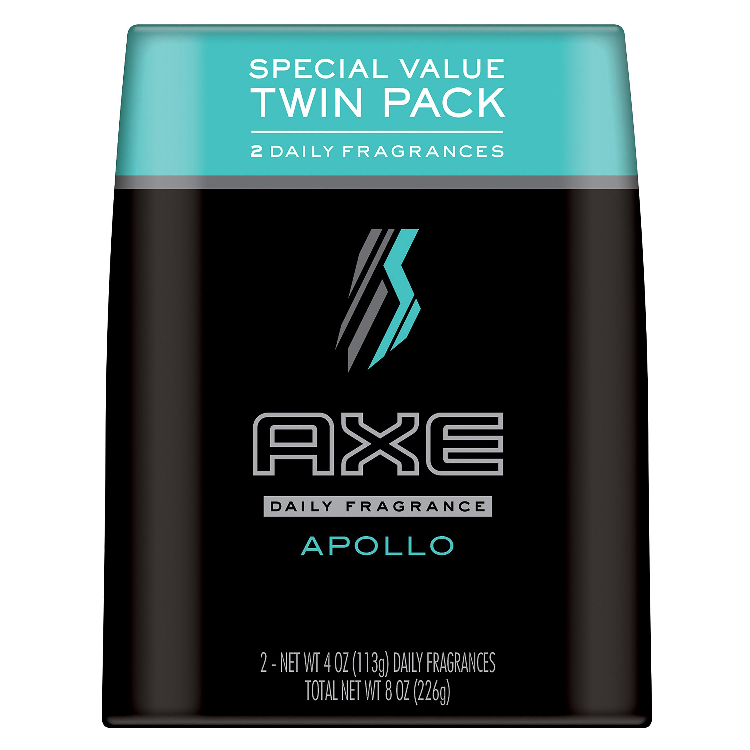 AXE Body Spray for Men, Apollo, 4 oz, Twin Pack