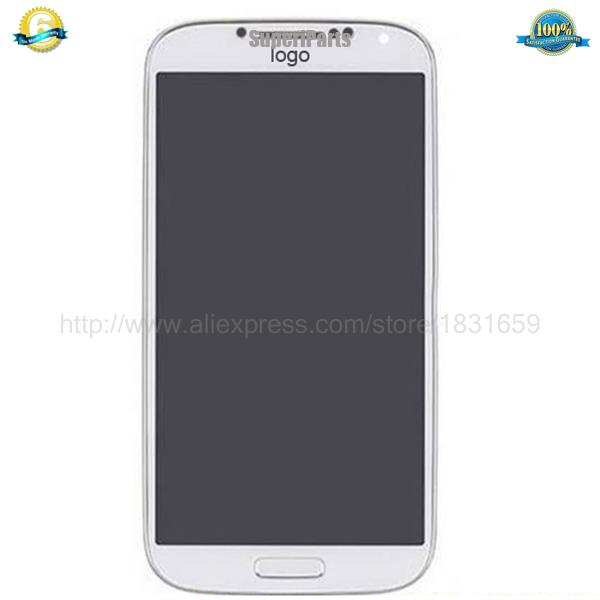 100% Guarantee Original For Samsung Galaxy S4 IV i337 M919 LCD Screen black white blue+Digitizer Touch+Frame free shipping
