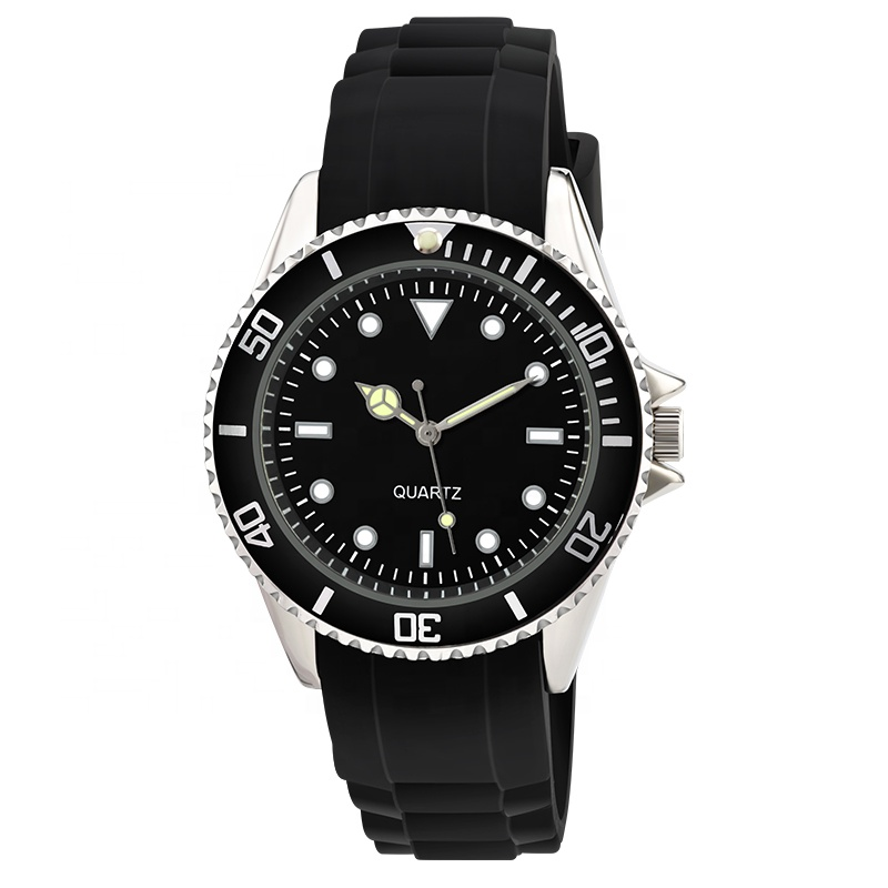 <strong>Hot</strong> Sale Geneva Silicone Watch Men Sports wrist watches