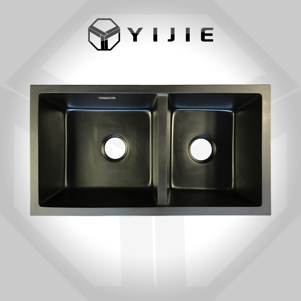yijie manufacture kitchen sink factory price cheap double bowl granite kitchen sink with low price buy factory price double bowl granite kitchen sink - Kitchen Sinks Cheap Prices