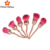 Top quality hot sale rose makeup kits 6 pieces wholesale makeup brush cosmetics