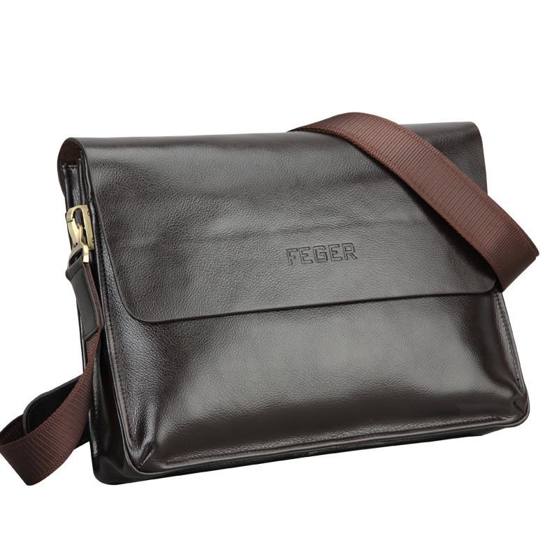 8b9b9fcb0cc4 Feger Bag Custom Pu Messenger Bag Men s Single Shoulder Business Bag ...