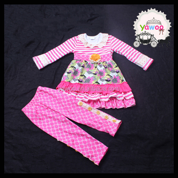 ec8ed48be Yawoo children clothes wholesale clothing turkey ruffle sets ...