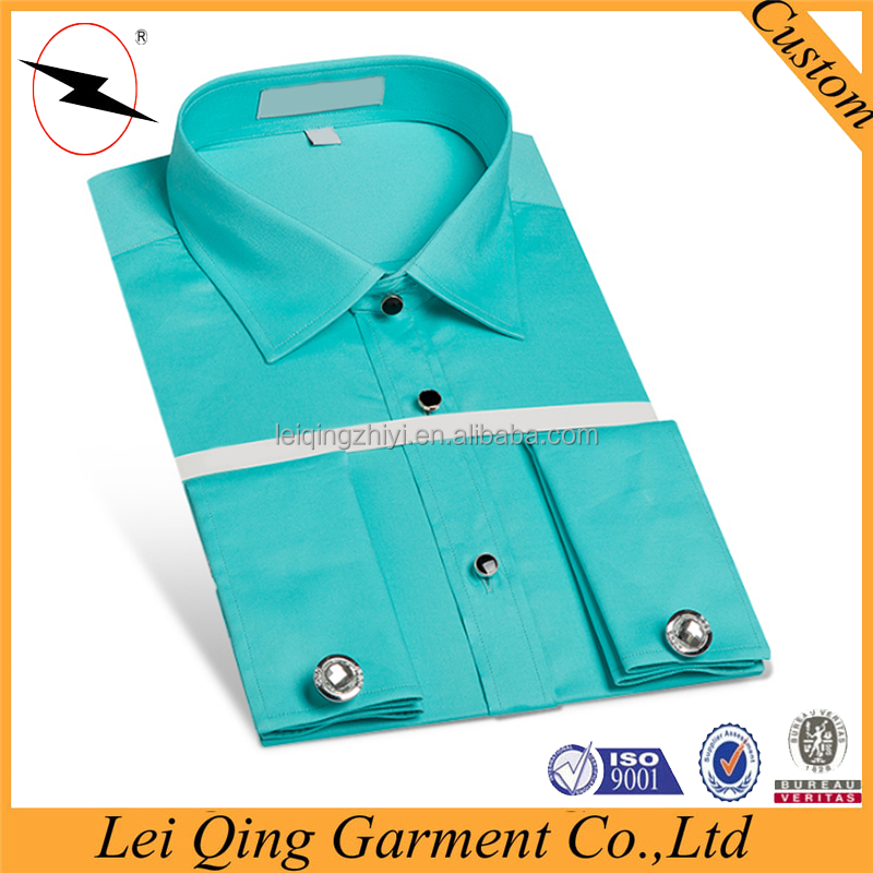 Different collar and contrast french cuff shirts for men