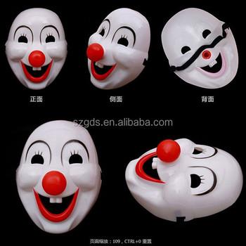 Dalam Stok Murah Halloween Lucu Plastik Clown Masker Pvc Masker Partai Dengan Merah Mawar Buy Lucu Clown Masker Plastik Clown Masker Clown Masker Pvc Product On Alibaba Com