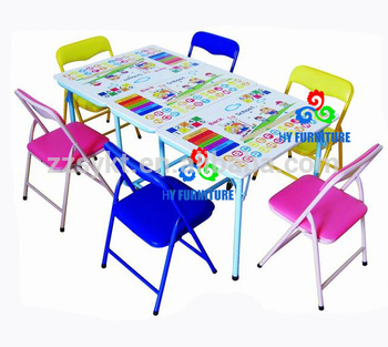 Petite Table Pliante Coloree D Etude De Jardin D Enfants Et