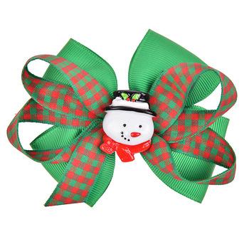 factory custom jojo siwa ribbon bow hair clip styles christmas hair clip girls