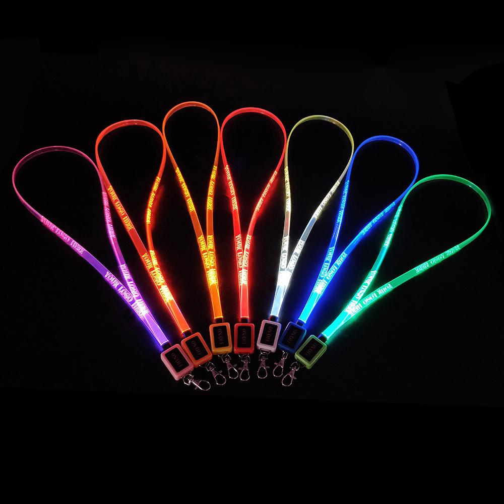 Custom LED Flashing Lanyards For Promotion Gifts