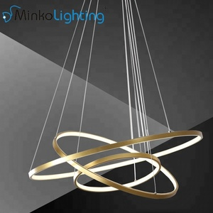 Led Three Circle Bar Table Dining 5 ring led chandelier