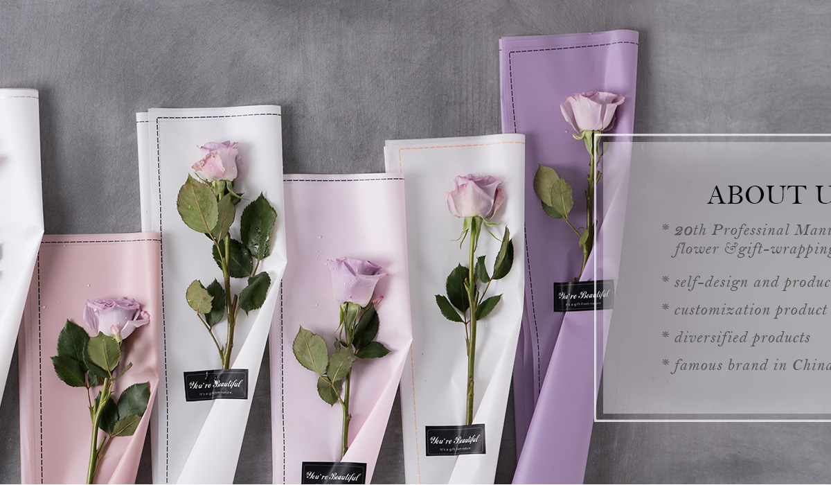 Qianyi Yiwu Packaging Firm Flower Wrapping Paper Film Flower