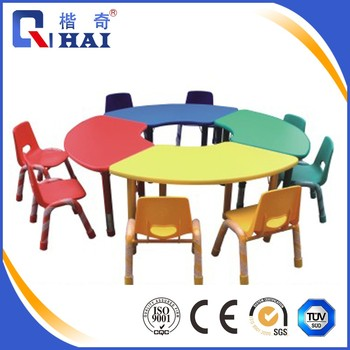 Kids Square Shape Wood Study Table Chair Set Used Daycare Furniture ...