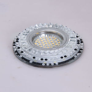 New design fashion shining brightly GU10 G5.3 MR16 round crysta led spotlight with white/black beads and led strip 4200k SMD2835