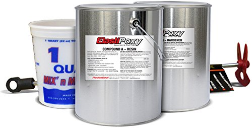 ElastiPoxy Joint & Crack Filler Kit (2-gal) – High-Strength Repair Filler for Floor-to-Wall Joints, Expansion Joints, Saw Cuts, Cracks in Concrete Block Walls, & Spalled Concrete