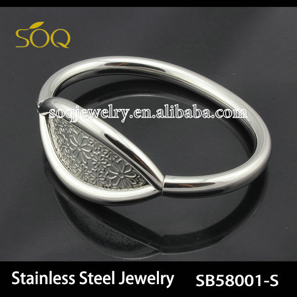 SB58001 Fashion Silver & Gold Stainless Steel Thin Chain Stainless Steel Bangle