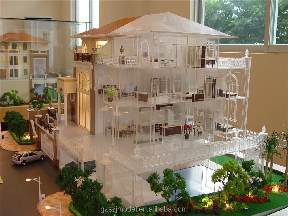 Architectonische gebouw huis model te koop miniatuur villa architectuur modellen architectuur - Model van huisarchitectuur ...