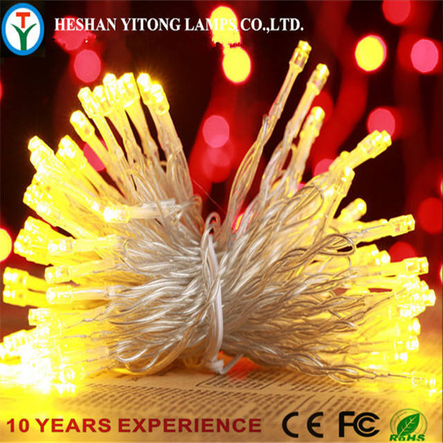 100L Warm White Copper Christmas Led Night String Lights Battery Decorative  Mini Led Light