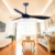 "Modern 52"" 3 ABS blades wooden color Ceiling Fan with lamp"