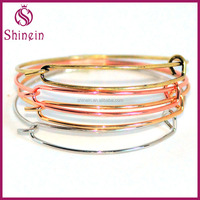 Custom wholesale simple gold adjustable bangle designs