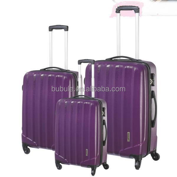 Exquisite series 100%Pure PC trolley luggage bolsas plastic travel colorful trolley bag PCL003