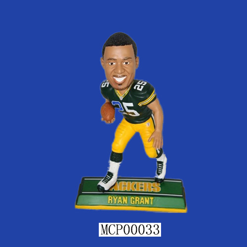 Ryan Grant Green Bay Packers End Zone Custom Bobblehead