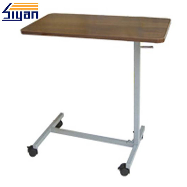 Hospital height adjustable wooden laminate top dining table
