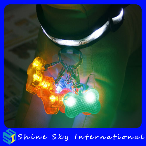 Gifts for new year led flashing charm pendant, pet accessories charm pendant, multicolors charm pendant