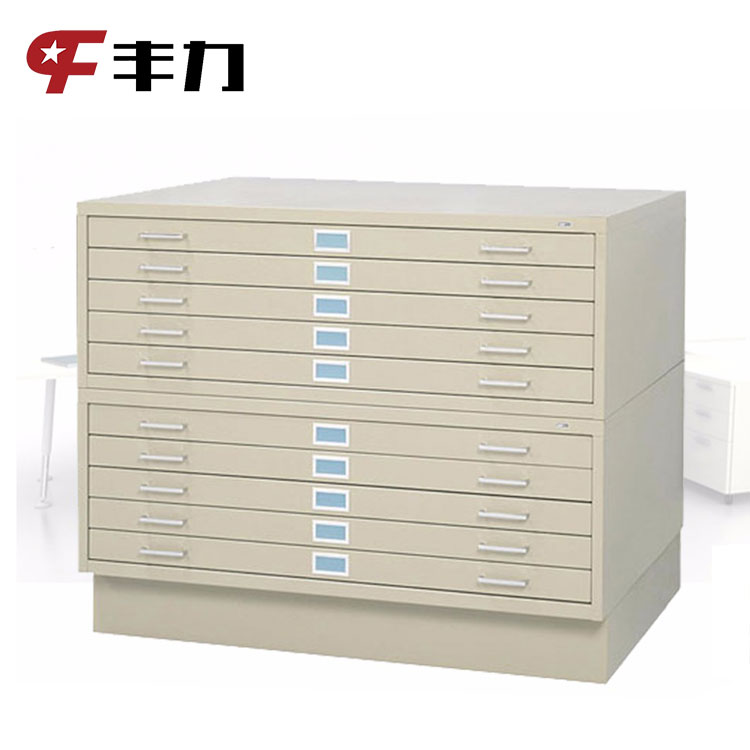 Factory Price Master Lock Drawing Flat File Map Steel Cabinets With 5  Drawers