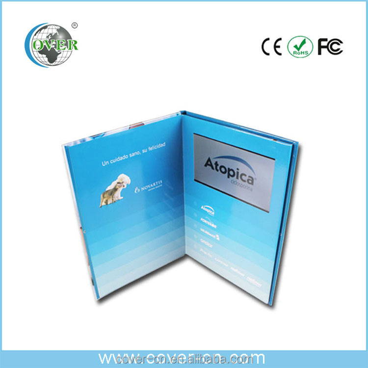 Promotional graphic video card, Icd Video greeting card, video brochure for advertising,gifts,other pratical