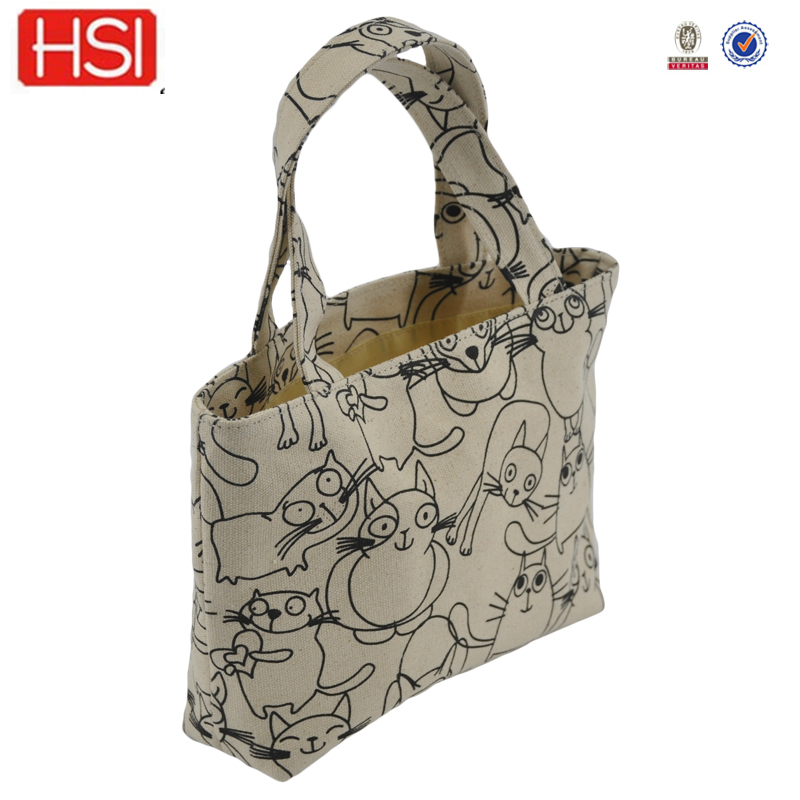 customised plain canvas oem bag folding travel bag