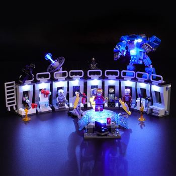 Briksmax LED Light Kit For Iron Man Hall of Armor Set Compatible With legos 76125 - not include legos set