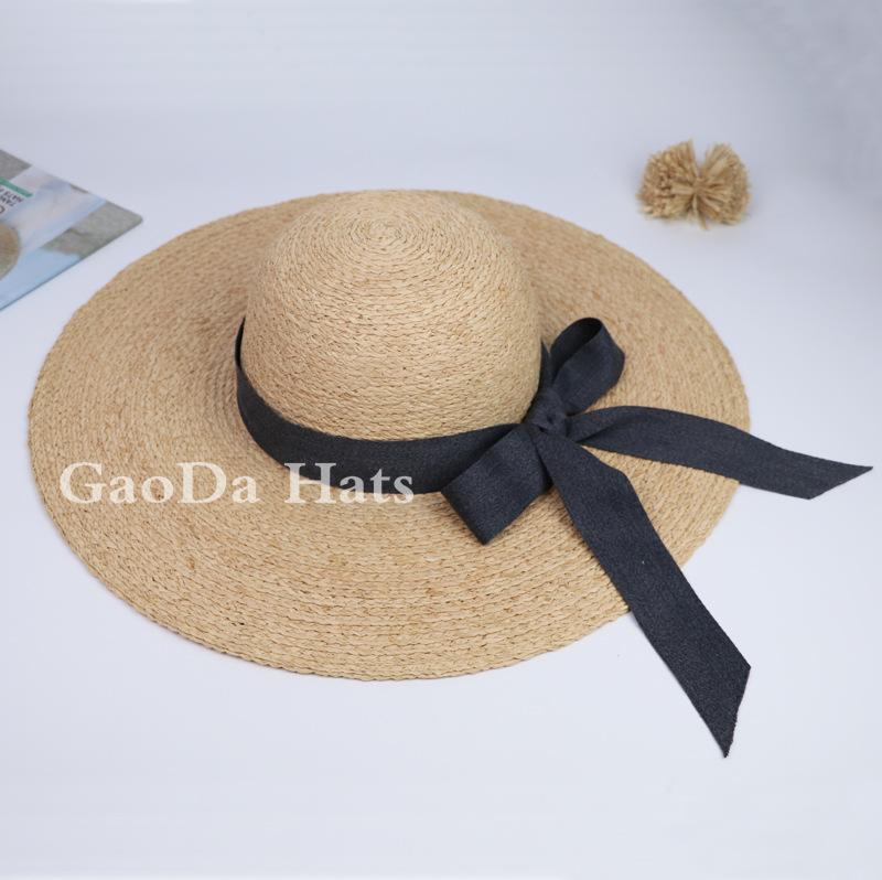Fashion Girl Floppy Derby Hat Wide Large Brim Summer beach floppy straw hat 872d8c6c665