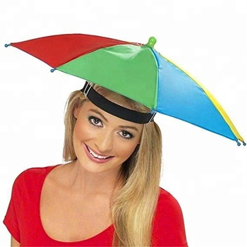 d0bb37a2d4fc2 Gorro paraguas sombrero manos libres con correa para la cabeza de sol  lluvia banda elástica de
