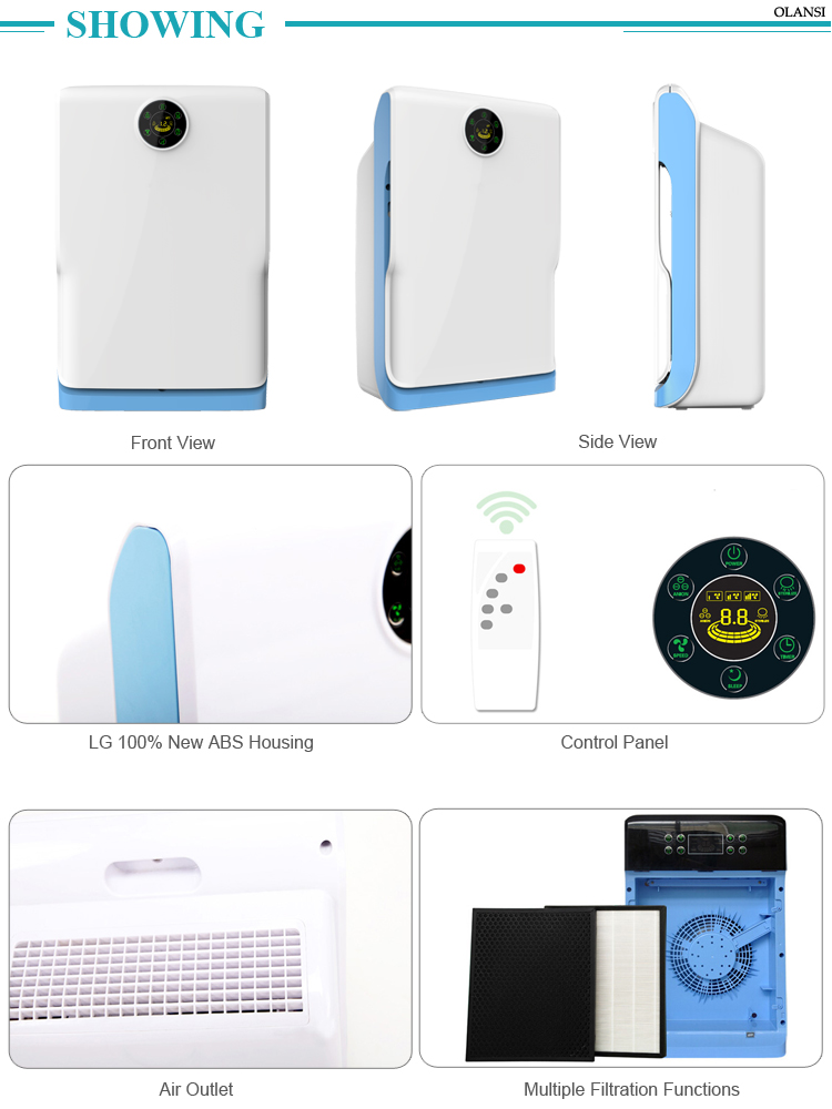 Basic Model CADR 150 Super Quality Room Baby Air Purifier Humidifying Smart Air Cleaner