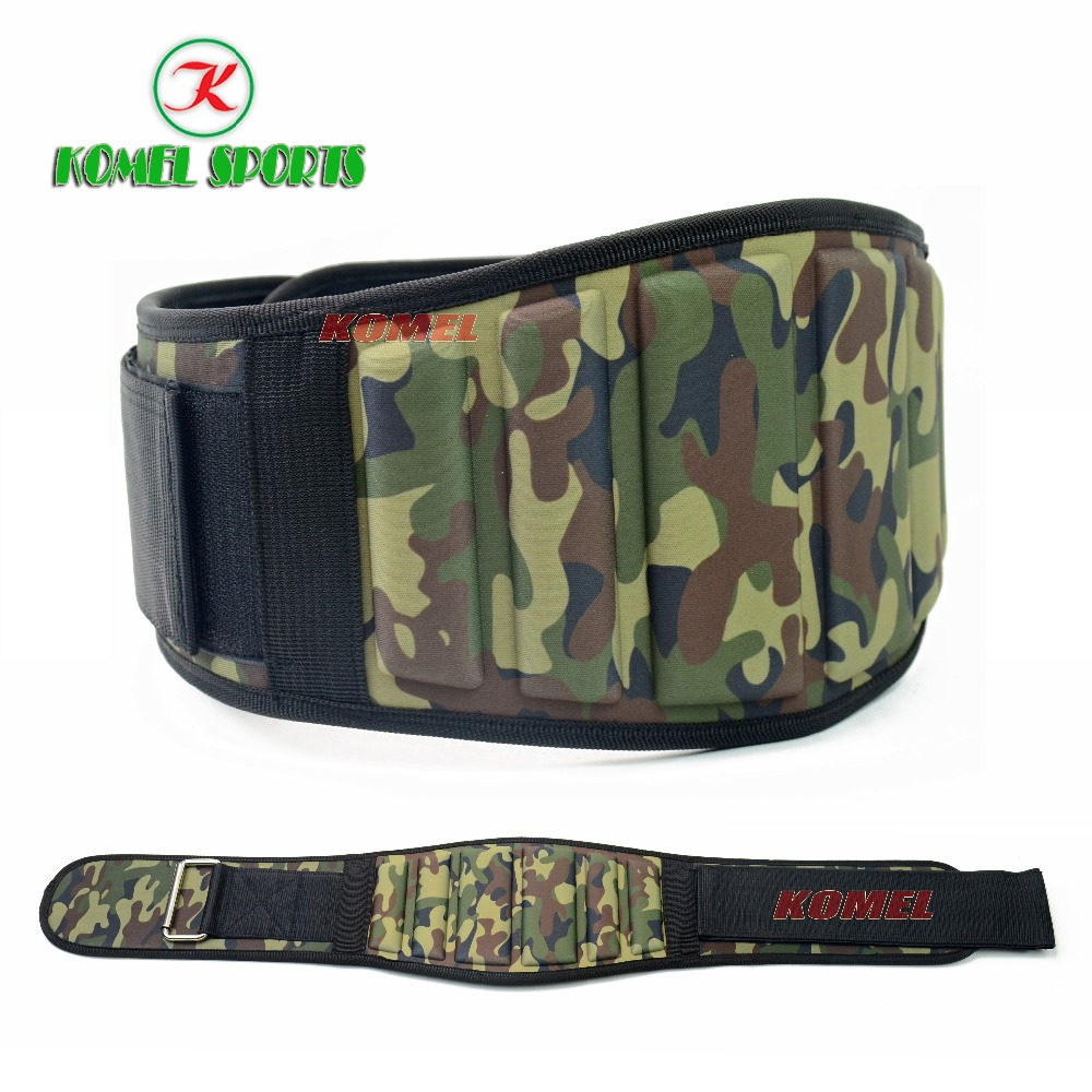 Padded Army Green Camo Weightlifting Belt with 6 inch Back Support,Weight lifting Belt