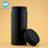Child proof flip top pill bottle medicine glass bottle black pill bottle