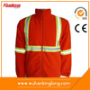 China manufacturing high quality orange reflective fleece jacket