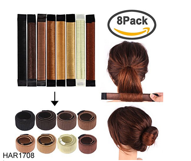 FengRise 3-Color Fashion Beauty Styling Donut DIY Hair Bun Maker Hair