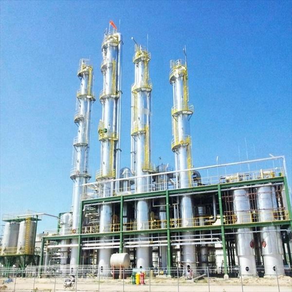 Ethyl Alcohol distillation equipment turnkey project using DCS system