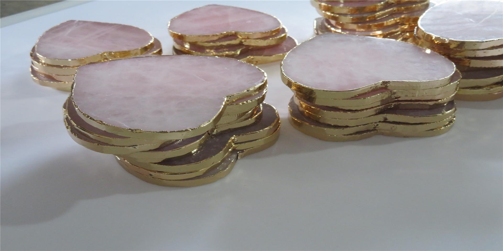 Warna-warni Biasa Anggur Teh Coaster Tatakan Batu Akik Ukuran IO untuk Dekorasi Ornamen