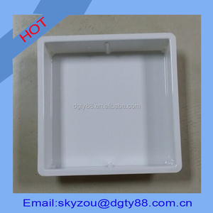 vacuum thermoform thick film blister white color flat plastic tray for storage