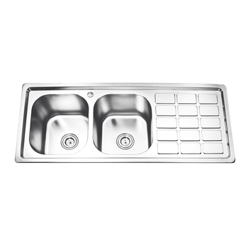 Newest Stainless Steel Double Bowl Kitchen Sink - Buy Stainless Steel  Kitchen Sink With Drain Board,Cheap Kitchen Sinks,Double Bowl Kitchen Sink  With ...