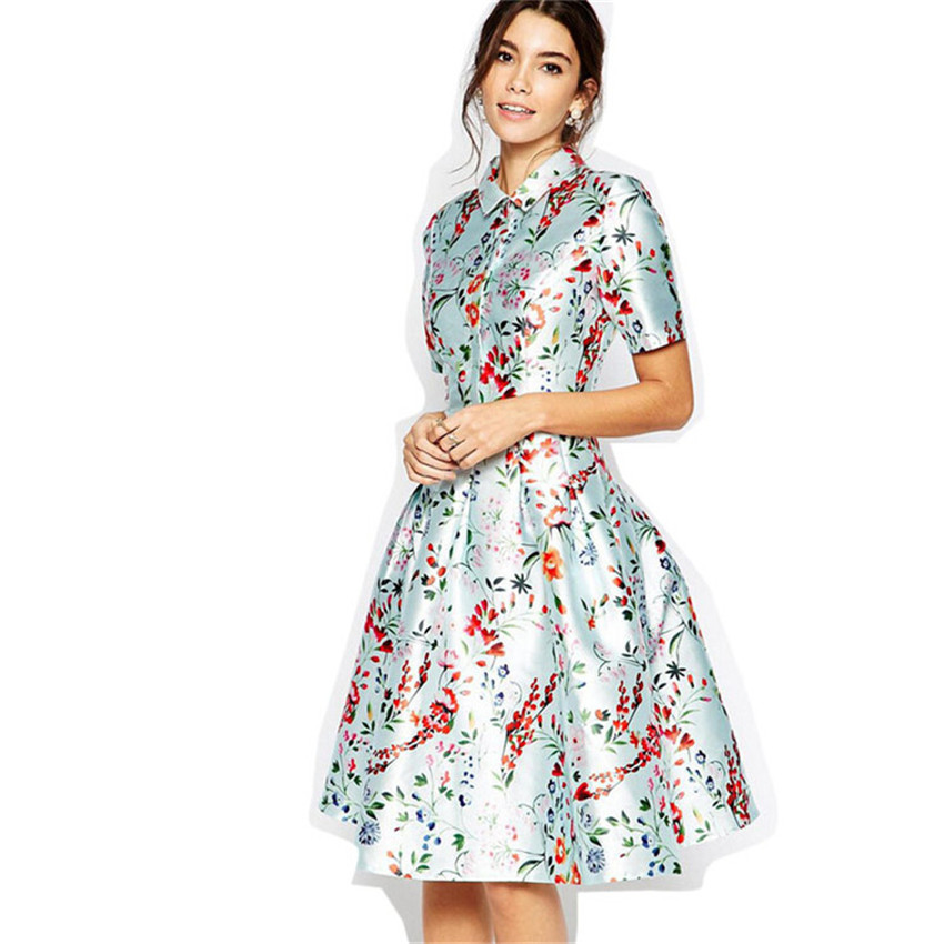 Top Grade Cute Princess Floral Dress 2016 Summer Short